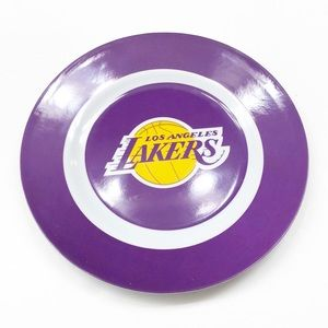 Los Angeles Lakers purple and gold plastic plate